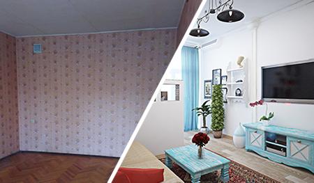 Примеры работ до и после. Отделка в Астрахани